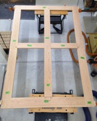 Initial dry fit, cross pieces not in mortises