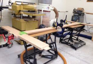 First glue up with method to control flexing