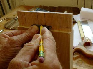 Using gauge blocks for haunch