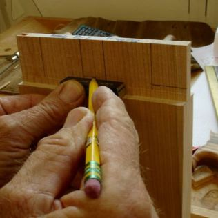 Using gauge blocks for haunch