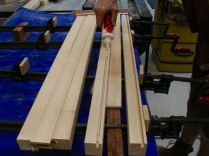 Glue-up, nested between clamps