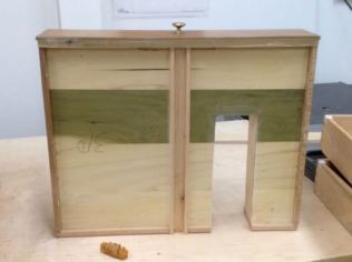 View of drawer bottom, looks like Poplar