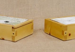 Rustic pencil boxes