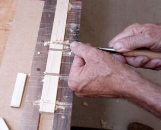 Remove waste with chisel