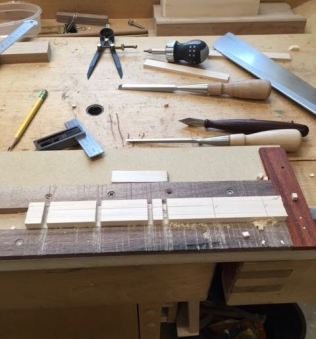 Over view of jig and tools