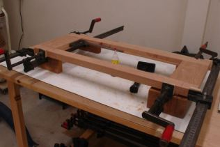 Glued up and clamped