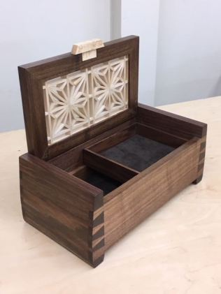 Open box, tray is removable