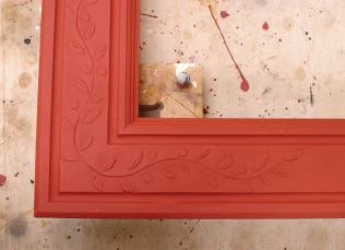 Red burnisher/sealer clay