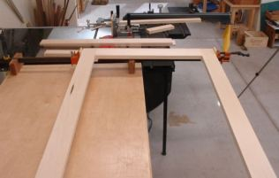 Glued and clamped