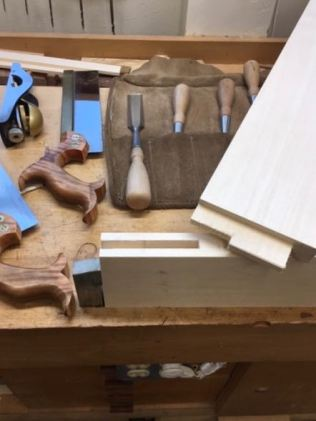 Fitting haunched mortise and tenon joint