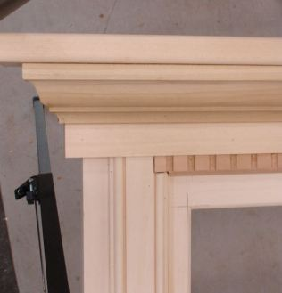 Dentil molding fitted