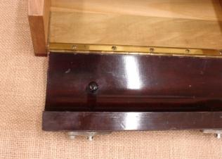 Inside, note original knob
