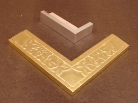 Initial lay, front is 23kt, back is 12kt gold