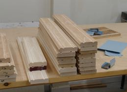Rabbet cut and coves ready for tadpole sander to clean up router work