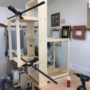 Final glue up, done in two stages