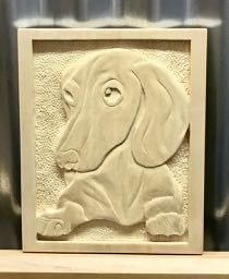 Dauschund on Basswood