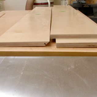 Pieces mitered and splined