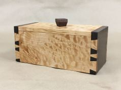 Tea Box; Big Leaf Maple & Walnut